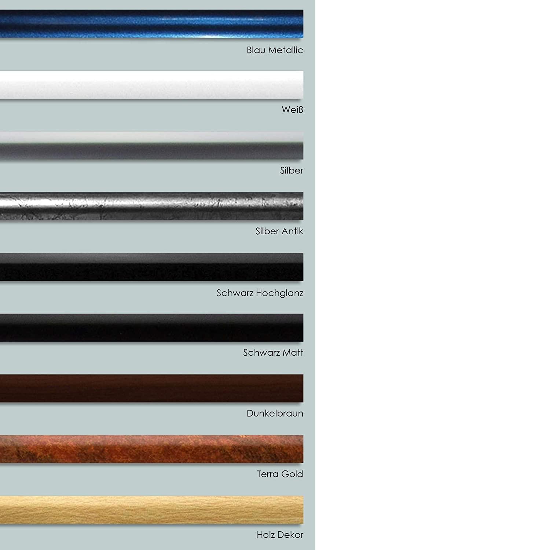 Kunststoff Bilderrahmen Ecoframe 60x100 cm mit 1 mm Kunstglasscheibe Farbwahl